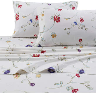 Tribeca Living Flannel Floral Garden 170-gsm Cotton Extra Deep Pocket Printed Twin Xl Sheet Set Bedding