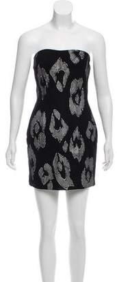 Just Cavalli Strapless Wool Dress
