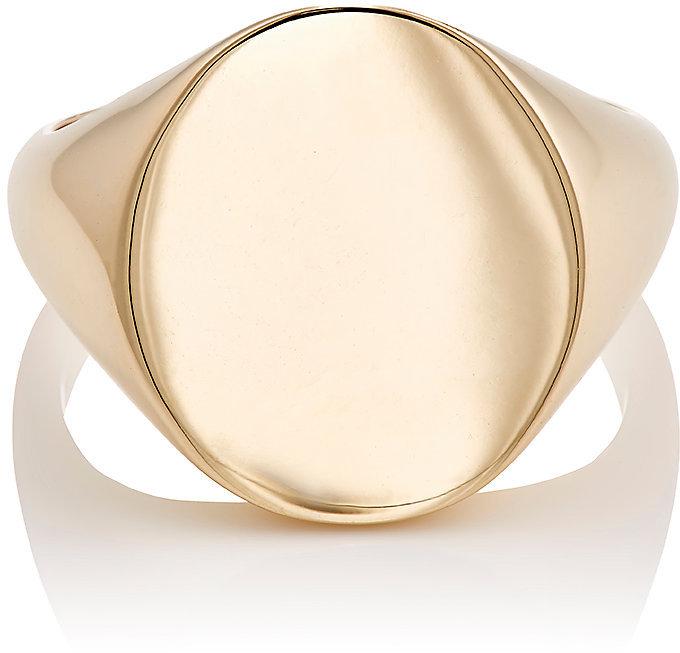 Barneys New YorkBarneys New York Men's Oval Signet Ring-Gold