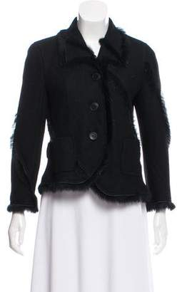 Nina Ricci Fur-Trimmed Wool Jacket