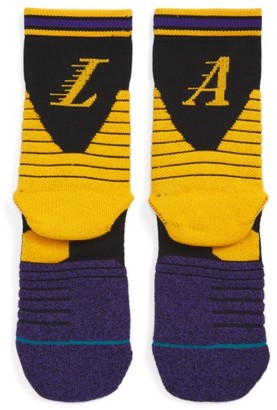 Men's Stance Nba On Court Lakers Logo Socks $18 thestylecure.com