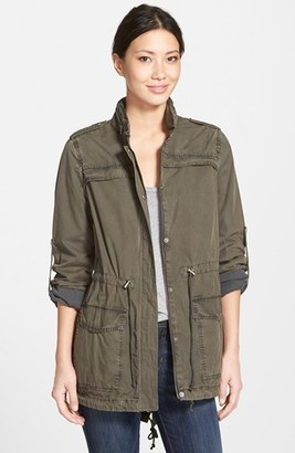 Levi's ® Lightweight Cotton Hooded Utility Jacket $150 thestylecure.com