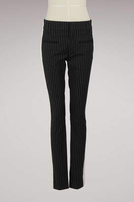 Haider Ackermann pin striped slim trousers
