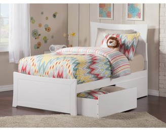 Atlantic Furniture Metro Twin Platform Bed with Matching Foot Board with 2 Urban Bed Drawers, Multiple Colors
