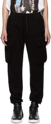 Unravel Black Dropped Cargo Pants