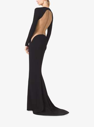 Michael Kors Stretch Matte-Jersey Illusion Gown