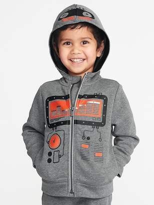 Old Navy Robot-Graphic Zip Hoodie for Toddler Boys