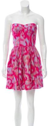 Rebecca Taylor Printed Strapless Dress