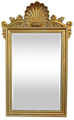 One Kings Lane Vintage Shell Crest Mirror - The Gilded Room
