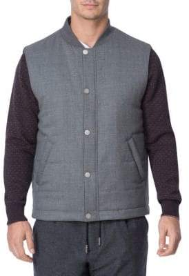 Eleventy Strom System Wool Snap Vest