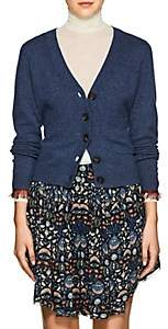 Chloé Women's Fringed Cashmere Cardigan-Dk. Blue