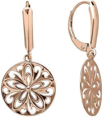 FINE JEWELRY Infinite Gold 14K Rose Gold Cutout Disc Earrings