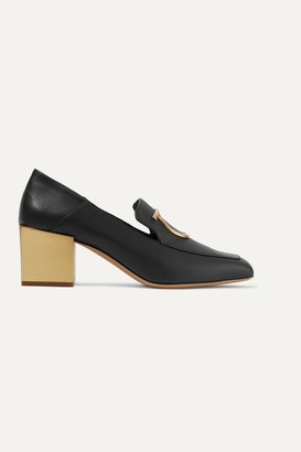Salvatore Ferragamo Lana Embellished Leather Pumps - Black
