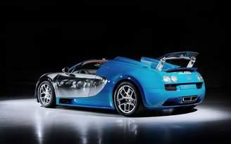 Bugatti Poster Central 2013 Veyron Grand Sport Vitesse Legend Meo Costantini 2 12X18 Metal Aluminum Wall Art