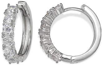 Footnotes Silver Enchantment Cubic Zirconia Huggie Hoop Earrings