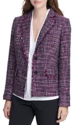 Donna Karan Tailored Tweed Blazer