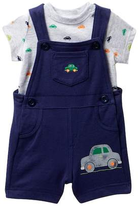 Little Me Car Knit Shortall Set (Baby Boys)