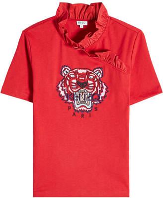 Kenzo Tiger Ruffle Cotton Shirt