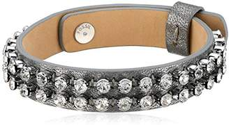 Fossil Glitz Leather Bracelet
