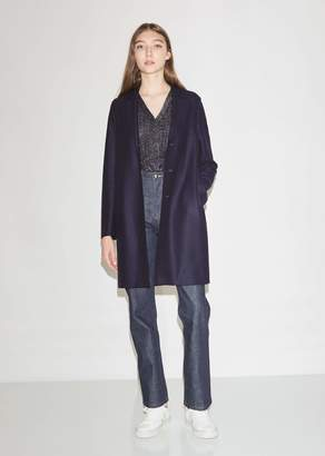 Harris Wharf London Pressed Wool Cocoon Coat