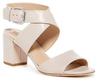 Via Spiga Carson Topstitched Block Heel Sandal