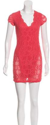 Nightcap Clothing Laced Mini Dress