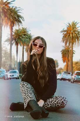 Urban Outfitters Roxy Slim Rectangle Sunglasses