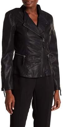 Blank NYC BLANKNYC Denim Vegan Leather Jacket