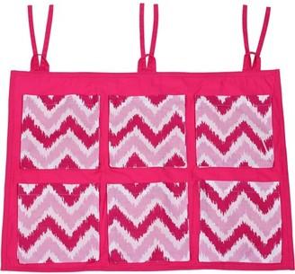 Bacati MixNMatch Pink Zigzag, Wall/Crib Storage Organizer, Pink