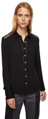 MANGO Black 'Elefant' Shoulder Detail Shirt