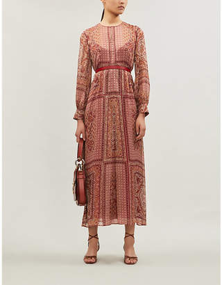 Max Mara Rane paisley-print silk dress