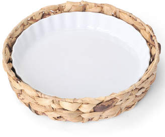 Pfaltzgraff Quiche Pan with Water Hyacinth Tray