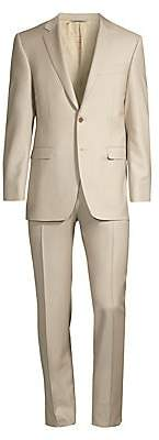 Canali Men's Modern-Fit Mid-Rise Single-Breasted Wool Suit