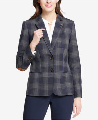 Tommy Hilfiger Two-Button Plaid Blazer
