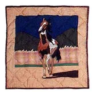 Patch Magic Wild Horses Toss Pillow