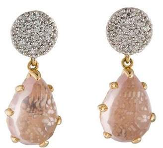 Phillips House 14K Sunset Diamond & Quartz Drop Earrings