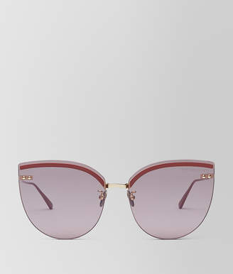 Bottega Veneta BURGUNDY METAL SUNGLASSES