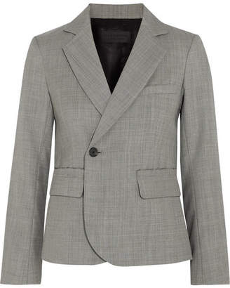 Nili Lotan Jefferson Wool Blazer - Gray