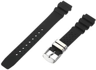 Momentum Women's ZC-16RUH Shadow II / Strom II 16mm Hyper Black Rubber Watch Band