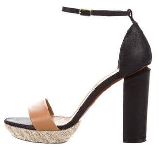 Lanvin Bi-Color Leather Sandals