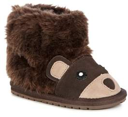 Emu 'Little Creatures - Brown Bear' Merino Wool Boot