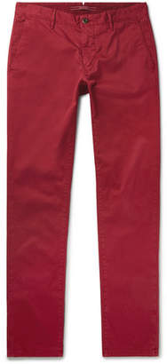 Incotex Slim-fit Stretch-cotton Twill Trousers - Red