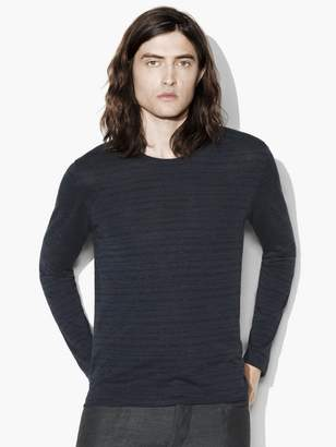 John Varvatos Broken Stripe Crewneck Sweater