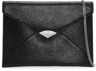 Michael Kors Barbara Large Black Leather Envelope Clutch Bag