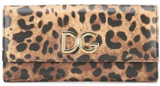 Dolce & Gabbana Leopard-printed leather wallet