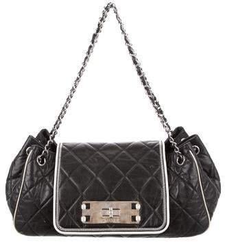 Chanel East West Accordion Flap Bag