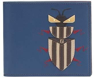 Fendi embroidered bi-fold wallet