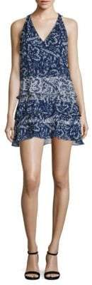 Ramy Brook May Sleeveless Tiered Silk Dress