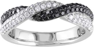 Affinity Diamond Jewelry Affinity 14K 2/3 cttw Black & White Diamond Twisted Band Ring