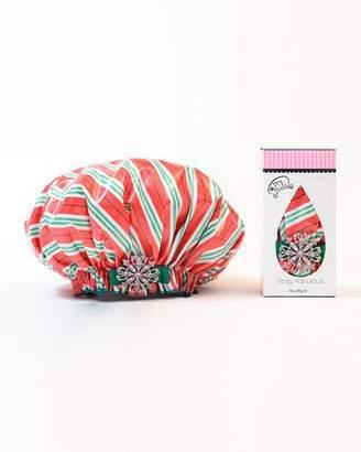 styling/ Dry Divas Candy Cane Road Bouffant Diva Shower Cap